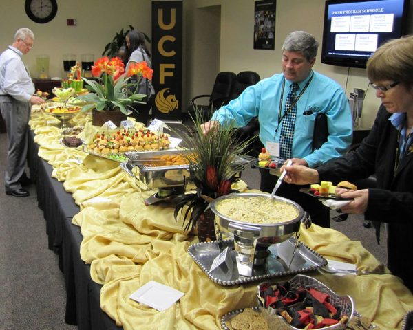 EDC luncheon buffet table