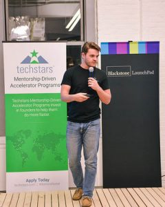 UCF student Joe Sleppy at Techstars in NYC