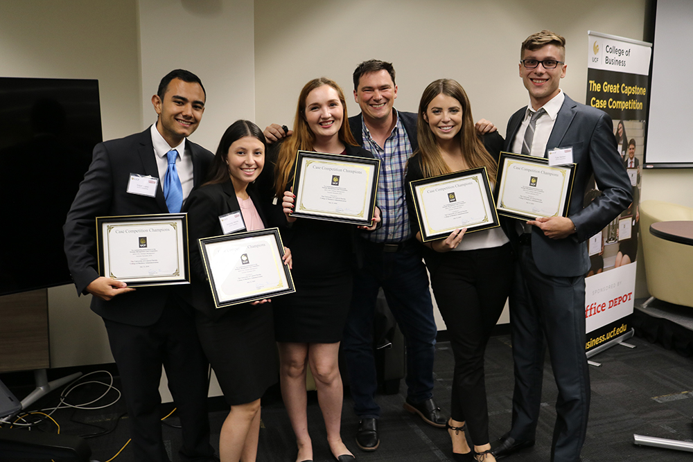 Five Students Win Top Honors, $2,500 at Capstone Case Competition