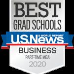 Best Grad Schools Part-Time MBA 2020 badge