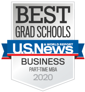 Best Grad Schools Part-Time MBA 2020 badge