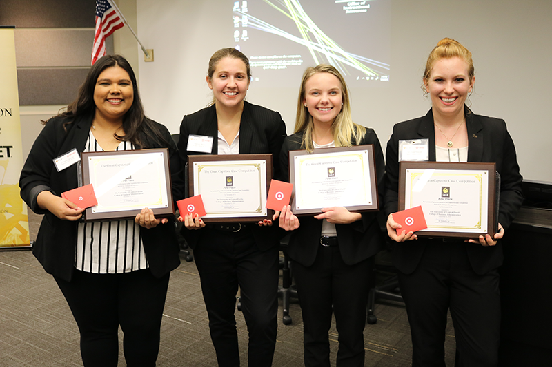 """Student Plan to Launch """"Bullseye Bistro"""" at Target Wins Fall 2019 Capstone Competition"""