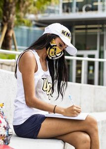 UCF Student in Mask